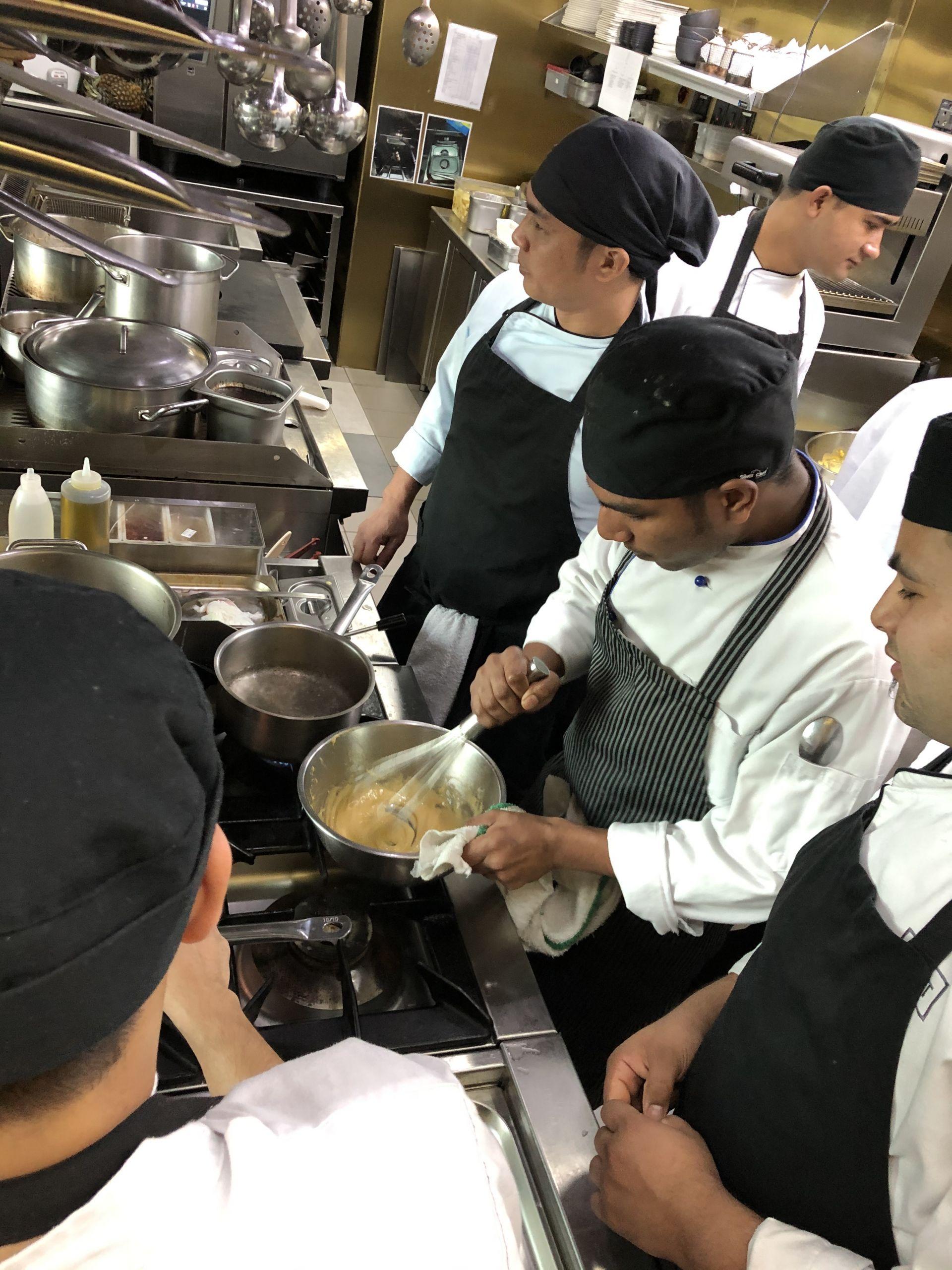 chef training on the job